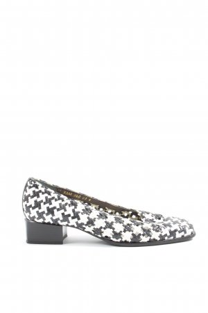 ara Loafers white-black check pattern casual look