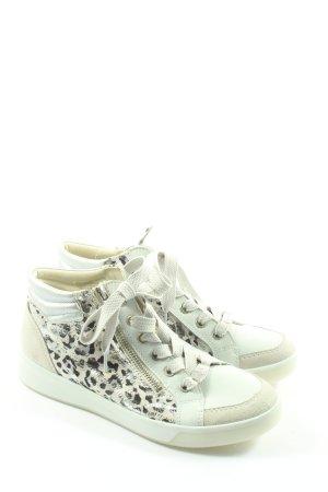 ara Sneakers met veters wolwit-zwart gestippeld casual uitstraling