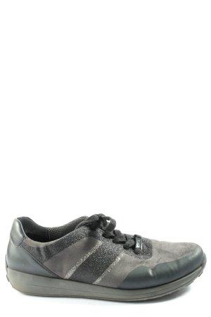 ara Basket à lacet noir-gris clair style décontracté