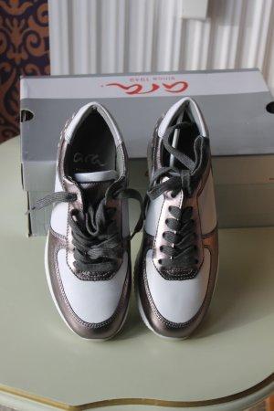 ara Sneakers met veters wit-lichtgrijs Leer