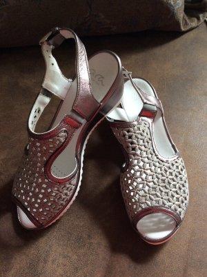 ara Sandalo comodo argento-color oro rosa
