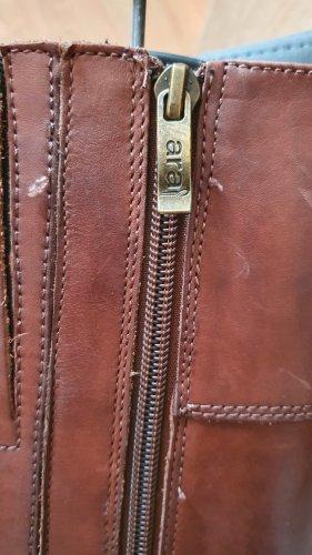 ara Wide Calf Boots cognac-coloured