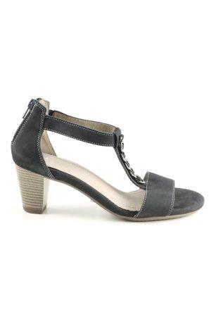 ara T-Steg-Sandaletten schwarz-silberfarben Casual-Look
