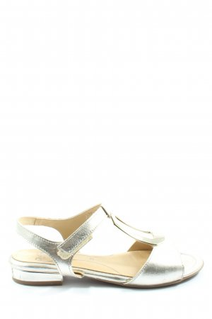 ara T-Strap Sandals silver-colored casual look