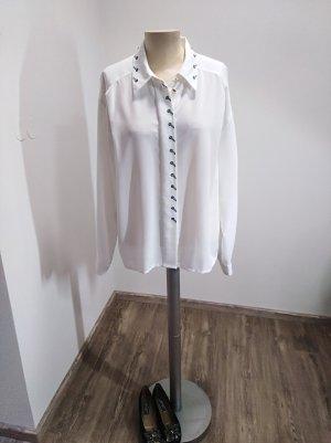 Ara Vintage Bluse weiß bestickt Gr. 42