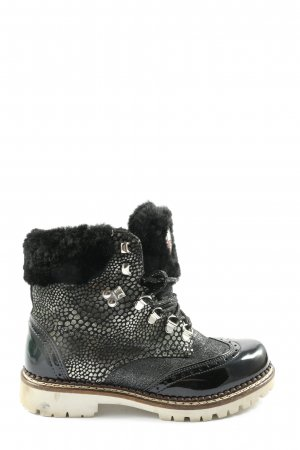 ara Winter Boots black-silver-colored animal pattern casual look