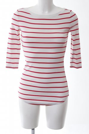 Arabella & Addison Longsleeve natural white-red striped pattern casual look