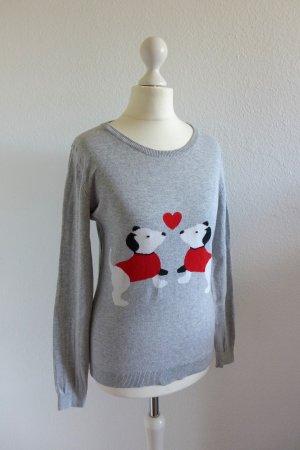 Arabella & Addison Kraagloze sweater veelkleurig