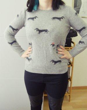 Arabella & Addison Wełniany sweter szary