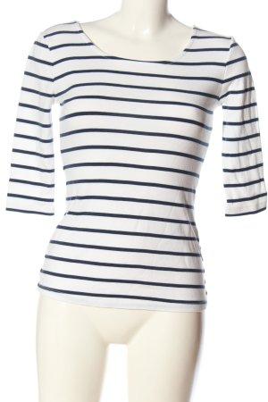Arabella & Addison Gestreept shirt blauw-wit volledige print casual uitstraling