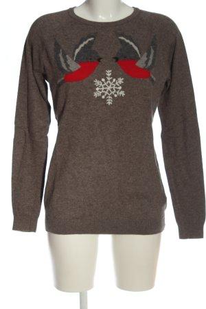Arabella & Addison Kraagloze sweater prints met een thema casual uitstraling