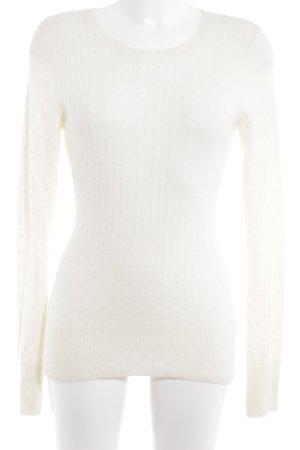 Arabella & Addison Kraagloze sweater wolwit simpele stijl