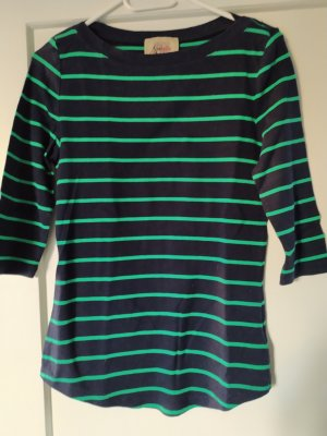 Arabella & Addison Gestreept shirt donkerblauw-groen