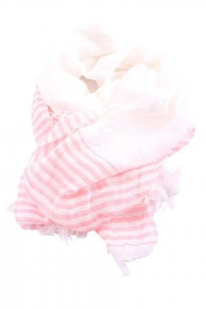 Arabella & Addison Traditional Scarf pink-white striped pattern casual look