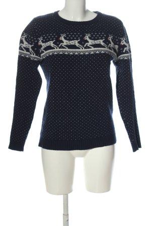 Arabella & Addison Wollen trui blauw prints met een thema casual uitstraling