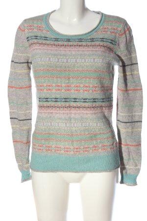 Arabella & Addison Wełniany sweter Łączone wzory W stylu casual