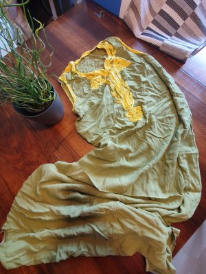 Sukienka plażowa żółty-trawiasty