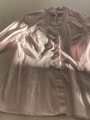 Arami Blouse met opstaande kraag lichtroze