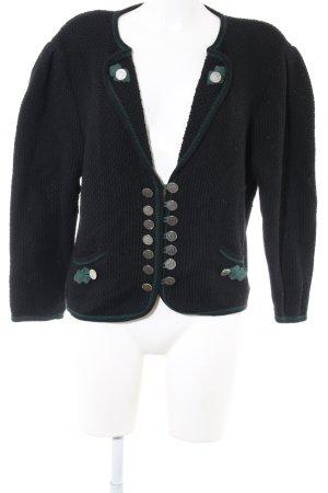 Arber Trachtenjacke schwarz-grün Casual-Look
