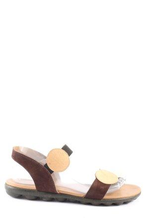 Arche Sandały z rzemykami brązowy-w kolorze białej wełny W stylu casual