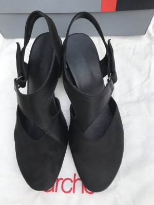Arche T-Strap Sandals black leather