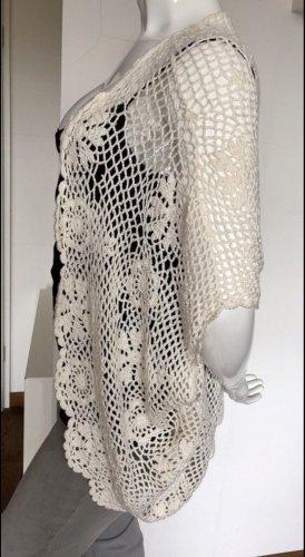 Archeologie Crochet Cardigan natural white