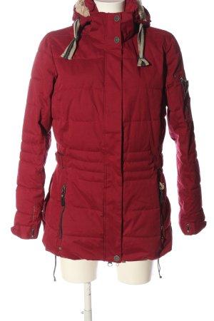 Arctic North Giacca invernale rosso motivo trapuntato stile casual