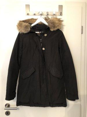 Woolrich Winterjas zwart-lichtbruin