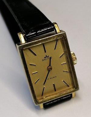 Arctos Montre avec bracelet en cuir noir-doré