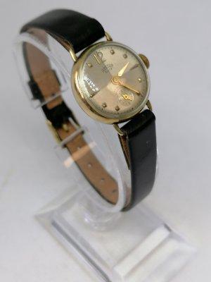 Arctos Reloj con pulsera de cuero negro-color oro
