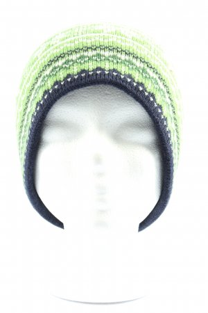 ARECO Bobble Hat mixed pattern casual look