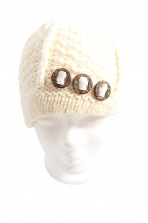 ARECO Sombrero de punto blanco puro look casual