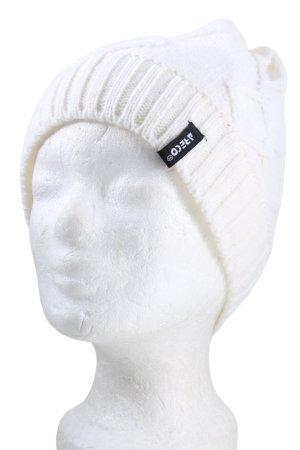 ARECO Sombrero de punto blanco punto trenzado look casual