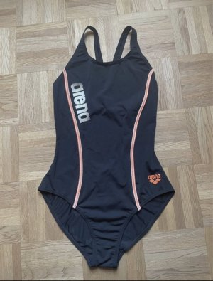 Arena Zwempak zwart-oranje