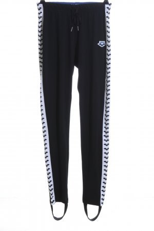 Arena Strapped Trousers black-white graphic pattern casual look