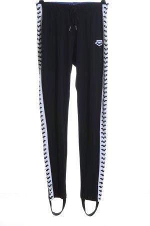 Arena Pantalone sfoderato nero-bianco motivo grafico stile casual