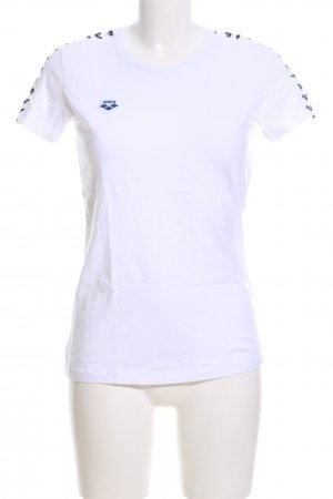 Arena T-Shirt weiß-blau grafisches Muster Casual-Look