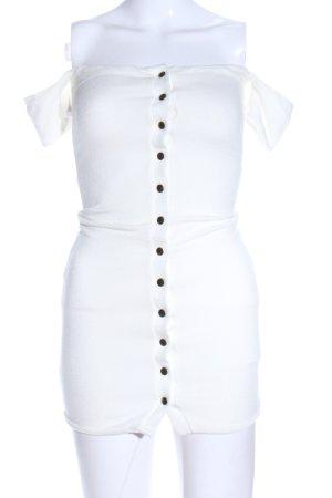 Robe courte blanc style décontracté