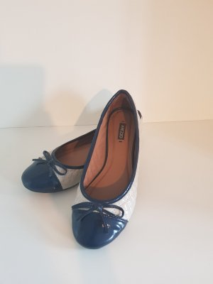 Arezzo Patent Leather Ballerinas camel-steel blue