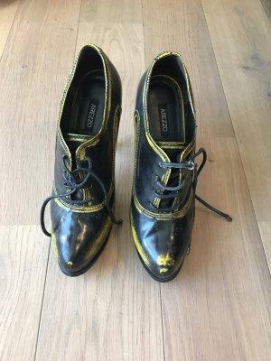Arezzo High Heel Boots black-yellow leather