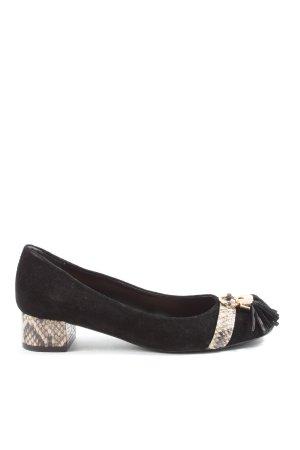Arezzo Chaussure décontractée noir-crème motif animal style décontracté