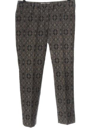 Argonne Stoffen broek bruin-wolwit volledige print casual uitstraling