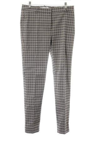 Argonne Pantalon en jersey noir-crème imprimé allover style décontracté