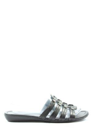 Ariane Sandalias Dianette negro-color plata look casual