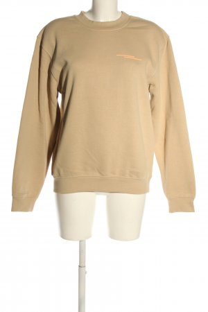 Ariane Ernst Sweat Shirt nude-light orange striped pattern casual look