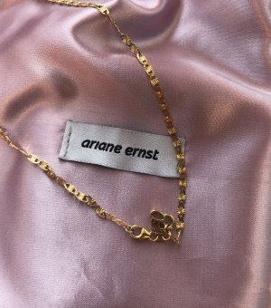 Ariane Ernst Gold Chain ocher mixture fibre