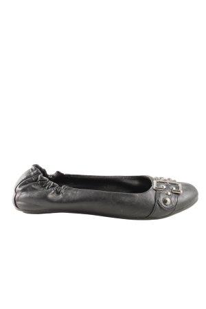 Ariane Ballerines à lacets noir style décontracté