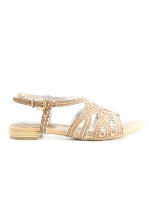 Ariane Riemchen-Sandalen braun-wollweiß Casual-Look