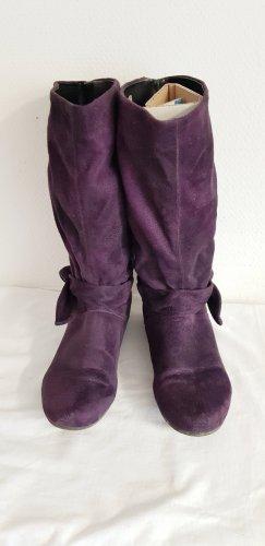 Ariane Bottines à enfiler violet foncé