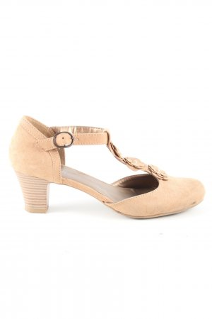 Ariane T-Steg-Pumps creme Casual-Look